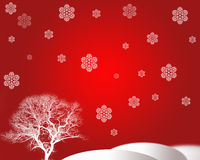 Tree and snowflake Royalty Free Stock Images