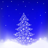 Tree from snowflakes Royalty Free Stock Photo