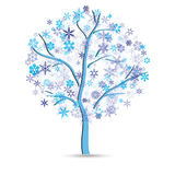 Tree with snowflakes Stock Photography