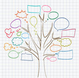 Tree with speech bubbles Stock Photos