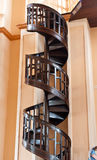 Tree spiral staircase. Spiral staircase made of wood in church Chanthaburi, Thailand Royalty Free Stock Photography