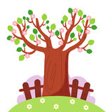 Tree in spring. Colored illustration of a tree in spring Royalty Free Stock Photos