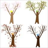 Tree Spring Summer Autumn Winter Royalty Free Stock Photos