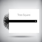 Tree square whimsical illustration Royalty Free Stock Images