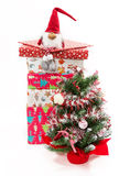 Tree and stack of presents Stock Image