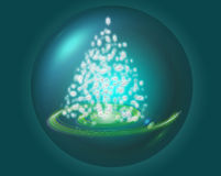 Tree stars. In bright bubble royalty free illustration