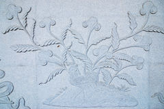 Tree Stone carving. Tree theme stone carving wall stock images