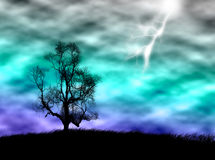 Tree in the storm Royalty Free Stock Photo