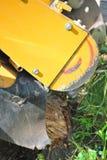 Tree Stump Machine. Royalty Free Stock Image