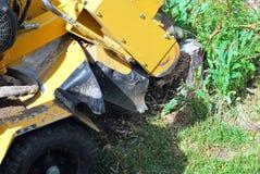 Tree Stump Machine. Stock Image