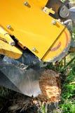Tree Stump Machine. Royalty Free Stock Photos