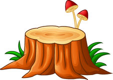 Tree stump and mushroom Royalty Free Stock Images