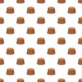 Tree stump pattern, cartoon style Stock Image
