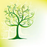 Tree Stylized in swirls Royalty Free Stock Image