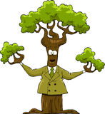 Tree in a suit. The tree in the yellow suit, vector Stock Photos