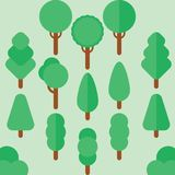 Tree summer flat vector Royalty Free Stock Photo