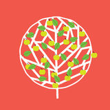 Tree in summer. Tree in four seasons vector illustration Stock Image