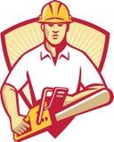 Tree Surgeon Arborist Gardener Chainsaw Royalty Free Stock Image