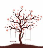 Tree with swing. Royalty Free Stock Images