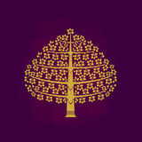 Tree symbol Asia style Royalty Free Stock Photos
