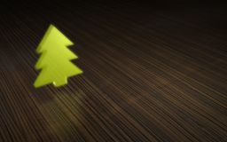 Tree symbol on brown wood Royalty Free Stock Photos
