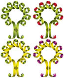 Tree symbol created of ribbon. Royalty Free Stock Image