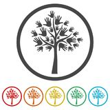Tree symbol, Tree icon, 6 Colors Included. Simple vector icons set Royalty Free Stock Photos