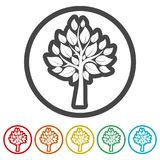 Tree symbol, Tree icon, 6 Colors Included. Simple vector icons set Royalty Free Stock Photo