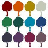 Tree symbol, Tree icons set. Vector icon Stock Photography