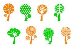 Tree symbols Royalty Free Stock Photos