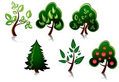 Tree symbols Stock Photography