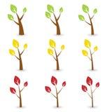 Tree symbols Royalty Free Stock Photo