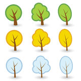 Tree symbols Royalty Free Stock Photography