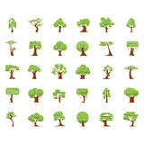 Tree symbols for green web design Royalty Free Stock Images