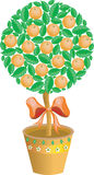 Tree with tangerines (vector) Stock Images