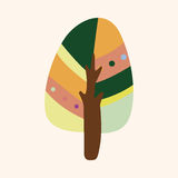 Tree theme elements vector,eps Stock Image