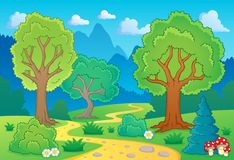 Tree theme landscape 1 Stock Photos