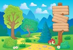 Tree theme landscape 2 Stock Images