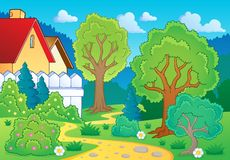 Tree theme landscape 3 Royalty Free Stock Images