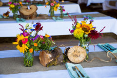 Tree Themed Wedding Reception Decor Stock Images