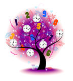 Tree of time Stock Images