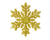 Tree Topper. Gold snow flake Christmas tree topper stock images