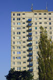 Tree and tower block in Poznan Stock Photography