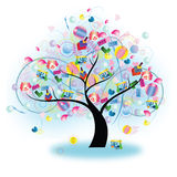 Tree of Toy (vector) Royalty Free Stock Photography