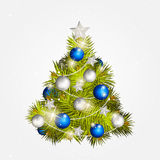 Tree with toys Royalty Free Stock Image