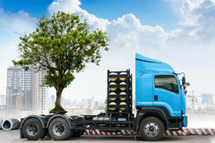 Tree transportation for gardening Royalty Free Stock Photography