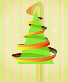 Tree triangle with swirl on vertical background Stock Images