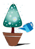 Tree Triangular. Illustration of the christmas trees on a white background Royalty Free Stock Photo