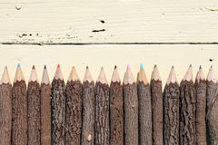 Tree trunk pencils Stock Photography