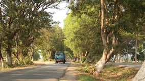 Tree tunnel road in Bagan, Myanmar. View of the tree tunnel road in Bagan, Myanmar. The Bagan Archaeological Zone is a main draw for the country's nascent stock video